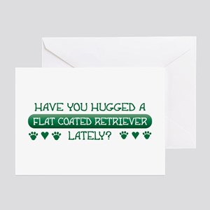 Hugged Flatcoat Greeting Cards (Pk of 10)