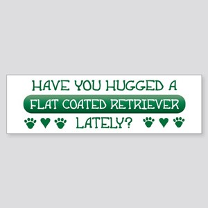 Hugged Flatcoat Bumper Sticker