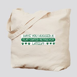 Hugged Flatcoat Tote Bag