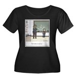 Creative Women's Plus Size Scoop Neck Dark T-Shirt