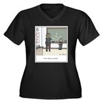 Creative Mat Women's Plus Size V-Neck Dark T-Shirt