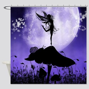 Fairy Silhouette 2 Shower Curtain