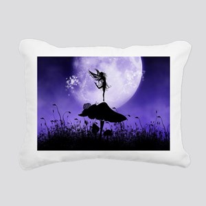 Fairy Silhouette 2 Rectangular Canvas Pillow