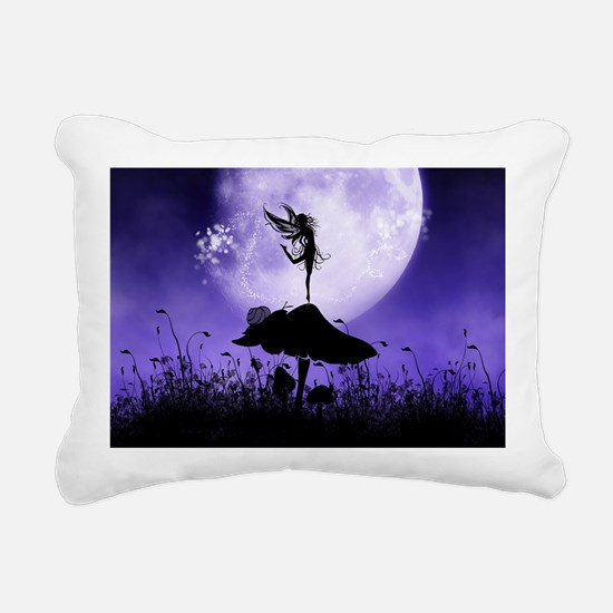 Fairy Silhouette 2 Rectangular Canvas Pillow