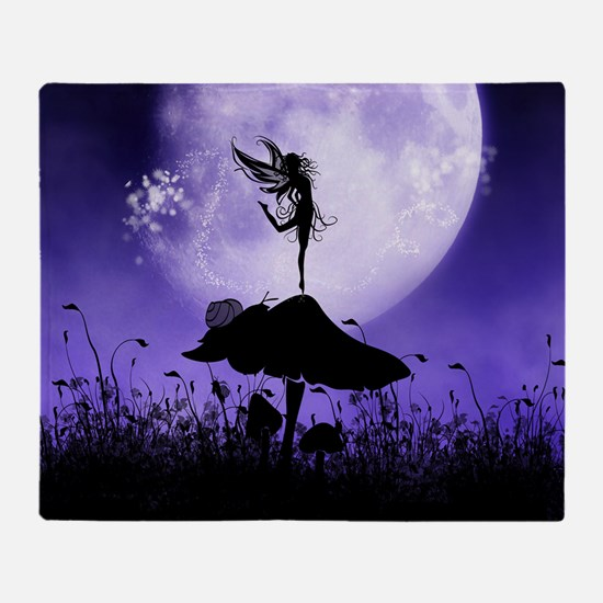 Fairy Silhouette 2 Throw Blanket