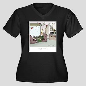 Holy Guacamo Women's Plus Size V-Neck Dark T-Shirt