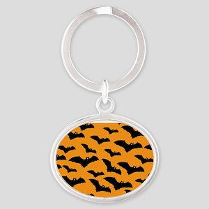 Halloween Bat Pattern Keychains