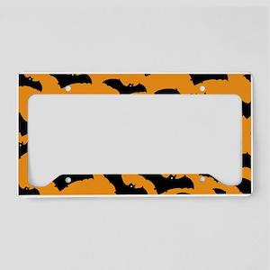 Halloween Bat Pattern License Plate Holder