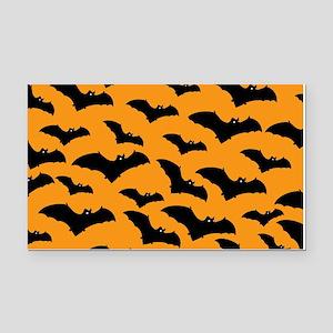 Halloween Bat Pattern Rectangle Car Magnet