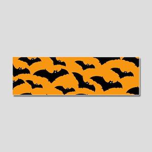 Halloween Bat Pattern Car Magnet 10 x 3