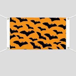 Halloween Bat Pattern Banner