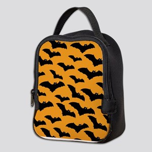 Halloween Bat Pattern Neoprene Lunch Bag