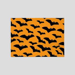 Halloween Bat Pattern 5'x7'Area Rug