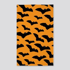 Halloween Bat Pattern 3'x5' Area Rug