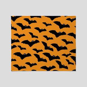 Halloween Bat Pattern Throw Blanket