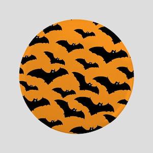 "Halloween Bat Pattern 3.5"" Button"