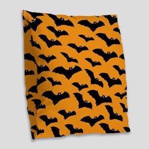 Halloween Bat Pattern Burlap Throw Pillow