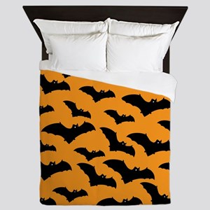 Halloween Bat Pattern Queen Duvet