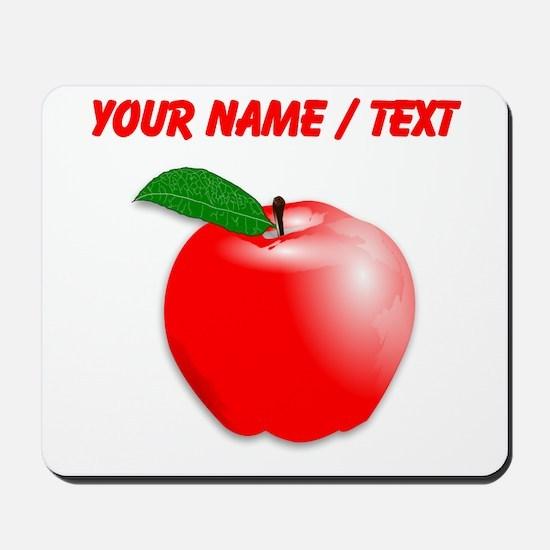 Custom Red Apple Mousepad