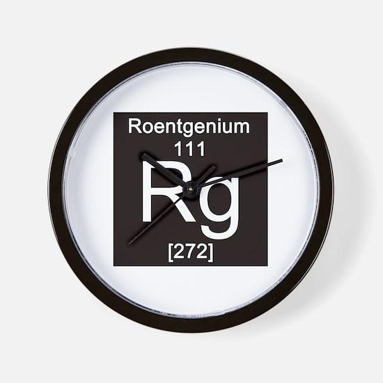 111. Roentgenium Wall Clock