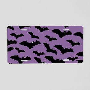 Spooky Halloween Bat Pattern Aluminum License Plat