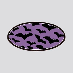 Spooky Halloween Bat Pattern Patches
