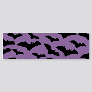 Spooky Halloween Bat Pattern Bumper Sticker