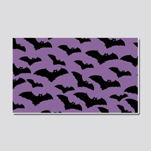 Spooky Halloween Bat Pattern Car Magnet 20 x 12