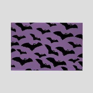 Spooky Halloween Bat Pattern Magnets