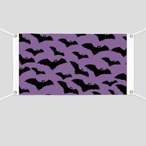 Spooky Halloween Bat Pattern Banner