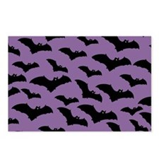 Spooky Halloween Bat Pattern Postcards (Package of