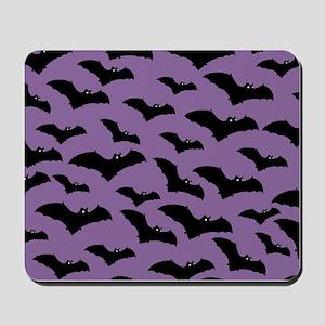 Spooky Halloween Bat Pattern Mousepad