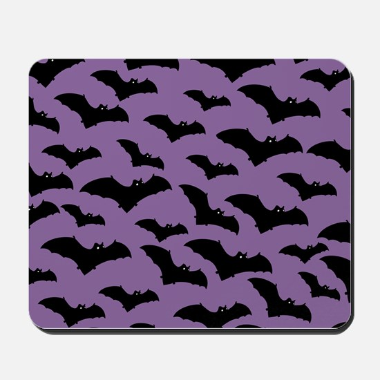 Spooky Halloween Bat Pattern Mousepad