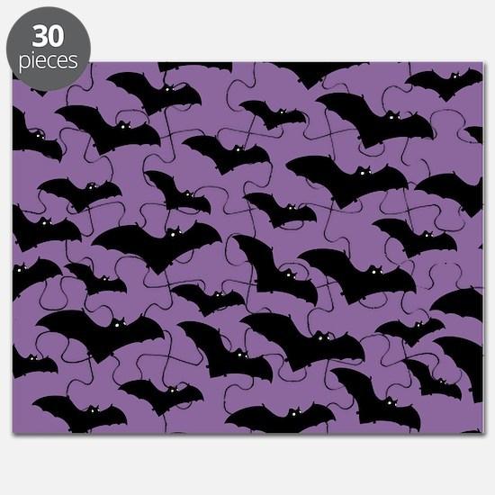 Spooky Halloween Bat Pattern Puzzle