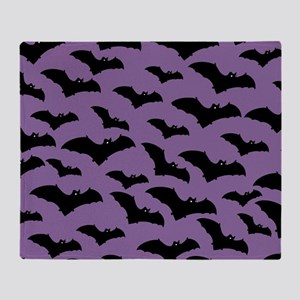 Spooky Halloween Bat Pattern Throw Blanket