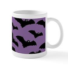Spooky Halloween Bat Pattern Mugs