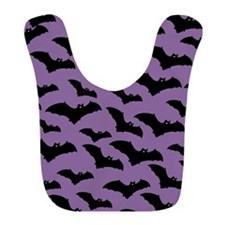 Spooky Halloween Bat Pattern Bib