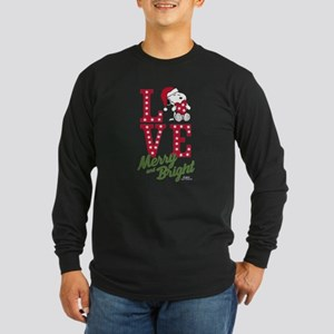Snoopy Love Merry And Bri Long Sleeve Dark T-Shirt