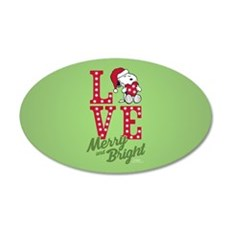 Snoopy Love Merry And Bright Wall Decal