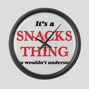 It's a Snacks thing, you woul Large Wall Clock