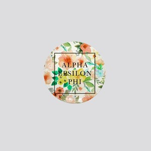 Alpha Epsilon Phi Floral Mini Button
