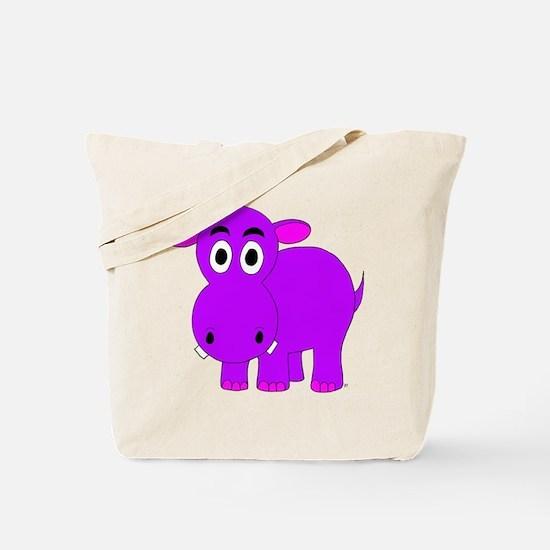 Purple Hippo Tote Bag