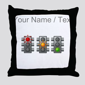 Custom Traffic Lights Throw Pillow