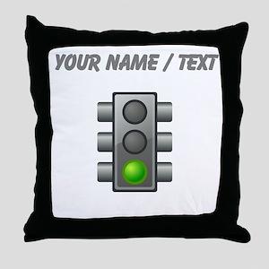 Custom Green Light Throw Pillow