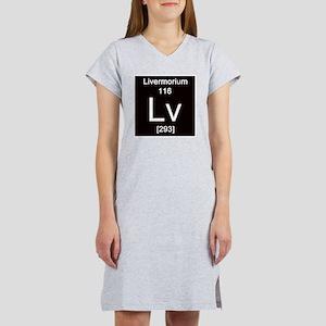 116. Livermorium Women's Nightshirt