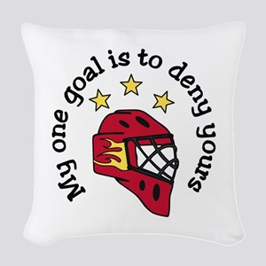 My One Goal Woven Throw Pillow
