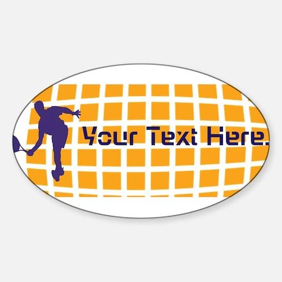 Tennis Fan Orange Sticker (Oval)