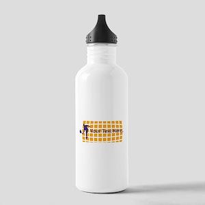 Tennis Fan Orange Stainless Water Bottle 1.0L