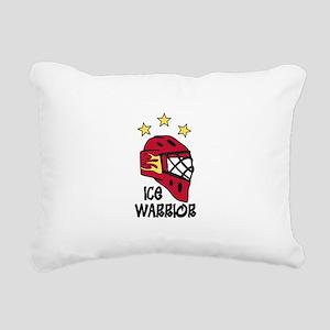 Ice Warrior Rectangular Canvas Pillow