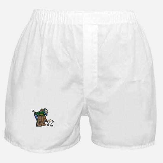 Goalie Girl Boxer Shorts